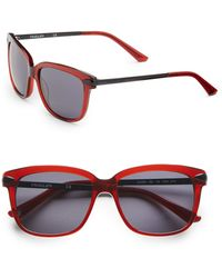 Thierry Mugler Twotone Acetate Square Sunglasses - Lyst