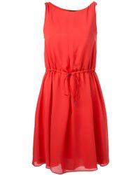 Emporio Armani Drawstring Waist Dress - Lyst