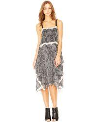 RACHEL Rachel Roy Wide-Strap Handkerchief-Hem Printed Chiffon Dress - Lyst