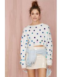 Nasty Gal Joa Snowflake Sequin Sweater - Lyst
