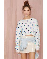 Nasty Gal Joa Snowflake Sequin Sweater - Lyst