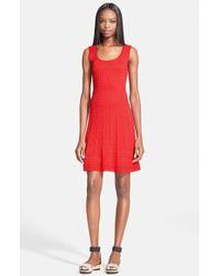 M Missoni Women'S Scoop Neck Flared Knit Dress - Lyst