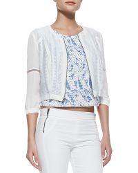 Waverly Grey - Willow Sheer Zip Jacket - Lyst
