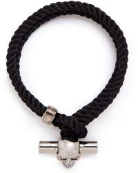 Alexander McQueen | T-bar Skull Rope Bracelet | Lyst