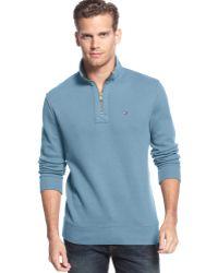 Tommy Hilfiger Mill Halfzip Mockneck Sweater - Lyst