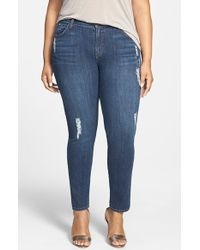 James Jeans 'Twiggy Z' Distressed Stretch Cigarette Leg Jeans - Lyst