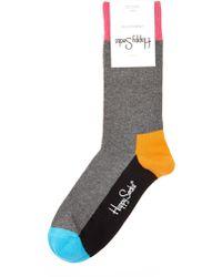 Happy Socks Colorblock Socks - Lyst