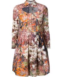 Carven Abstract-print cotton dress - Lyst