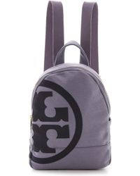 Tory Burch Canvas Backpack Solsticetory Navy - Lyst