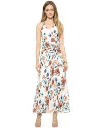 Haute Hippie Floral Gown - Lyst