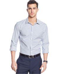 Michael Kors Tailored Darian Check Shirt - Lyst
