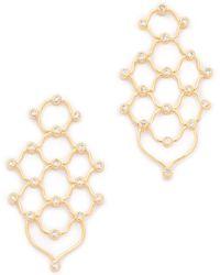 Noir Jewelry - Escher Earrings - Gold/clear - Lyst