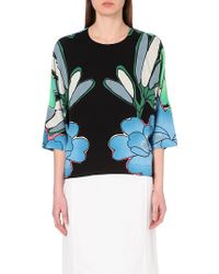 Marni Floral-Print Crepe Top - For Women - Lyst