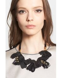 Marni Saffiano Leather Necklace - Lyst