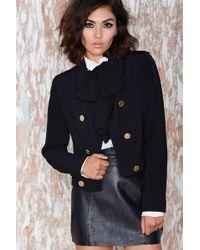 Nasty Gal Vintage Chloã© This Means War Jacket black - Lyst