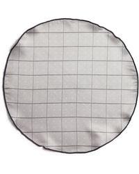 Edward Armah - Polka Dot And Plaid Reversible Pocket Circle - Lyst