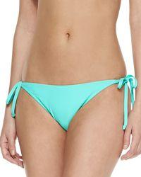 Letarte Jade Tie Die String Bikini Bottom - Lyst