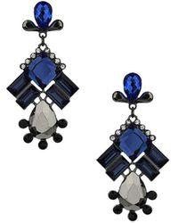 Topshop Rhinestone Drop Earrings - Lyst