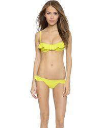 Tori Praver Swimwear | Cabazon Top - Lime | Lyst