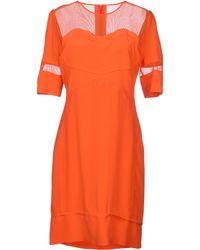 Victoria, Victoria Beckham Orange Short Dress - Lyst