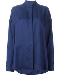 Haider Ackermann Blue Clark Shirt - Lyst