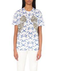 Stella McCartney Cloud-Print Cotton-Jersey T-Shirt - Lyst