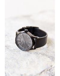 Nixon Sentry 38 Black Leather Watch - Lyst