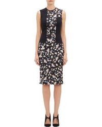 Erdem Floral-panel Nell Dress - Lyst