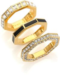 Marc By Marc Jacobs Lost & Found Octagon Stacking Ring Set gold - Lyst