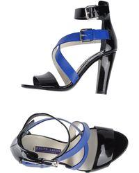 Ralph Lauren Black Sandals - Lyst