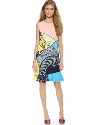 Viktor & Rolf Sleeveless Graphic Dress - Flesh Mix Color - Lyst