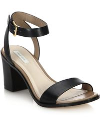 Cole Haan Cambon Leather Open-Toe Sandals black - Lyst