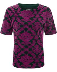 House Of Holland Pink Flocking Tee - Lyst