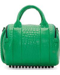 Alexander Wang Astroturf Green Rockie Dumbo Duffle Bag - Lyst