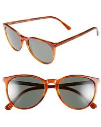 Dom Vetro - 'lupetto' 54mm Polarized Sunglasses - Blonde Tortoise - Lyst