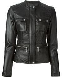 MICHAEL Michael Kors Leather Jacket - Lyst