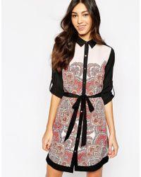 Oasis Paisley Shirt Dress - Lyst