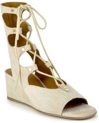 Chloé | Suede Tie Sandal | Lyst
