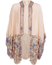 Anna Sui Silk Kimono With Bead Embellishment - Lyst