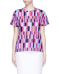 Emilio Pucci | Check Print T-shirt | Lyst