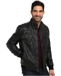 Calvin Klein Faux Lamb Jacket - Lyst