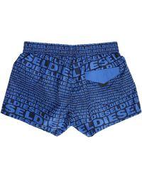 DIESEL   Blue Sandy Logo Swim Shorts   Lyst
