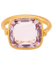 Marie-hélène De Taillac - Amethyst & Yellow-Gold Swivel Ring - Lyst