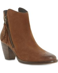 Steve Madden Whysper Leather Ankle Boots - Lyst