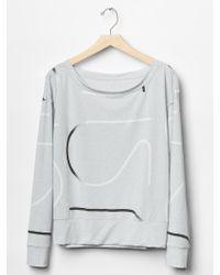 Gap Fit Breathe Logo-Print Pullover - Lyst