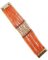 Lucky Brand Beaded Tennis Bracelet - Lyst