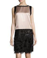 Philosophy di Alberta Ferretti Sequined Fringed-Silk Dress - Lyst