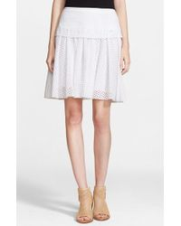 Rag & Bone Women'S 'Lakewood' Cotton Eyelet Skirt - Lyst