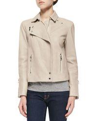 J Brand Lais Leather Zipper Moto Jacket - Lyst
