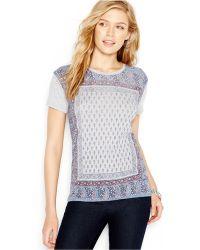 Lucky Brand Jeans Short-Sleeve Paisley-Print Tee - Lyst